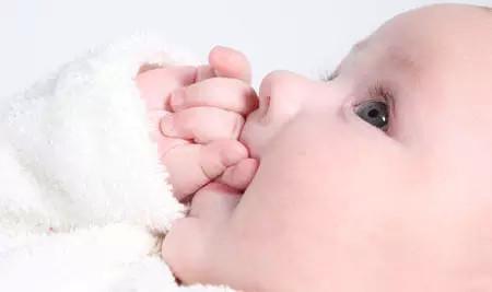 很多寶寶出生兩三個月,最愛做的事情是「吃手」 ;專家說,嬰兒與幼兒吮吸手指的意義是不同的。